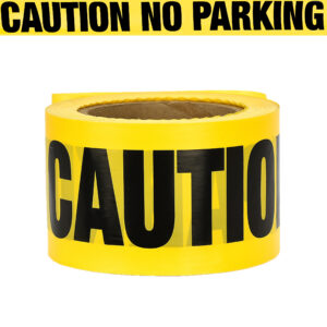 """Yellow Caution Tape """"Caution - No Parking"""" Tape 300 Ft Roll"""
