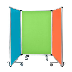 Double Sided Whiteboard & Flannel Partition 45'' x 32''