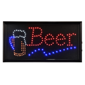 """19"""" x 10"""" LED Rectangular Beer Sign with Two Display Modes"""