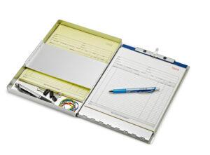 "Aluminum Snapback Form Holder, Letter Size, 9"" x 12"""