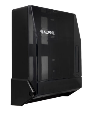 Trifold/C-fold Paper Towel Dispenser, Transparent Black