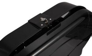 Double Jumbo Roll Toilet Paper Dispenser, Transparent Black