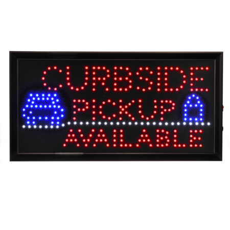 """19"""" W x 10"""" H LED Rectangular Curbside Pickup Available Sign with Two Display Modes"""
